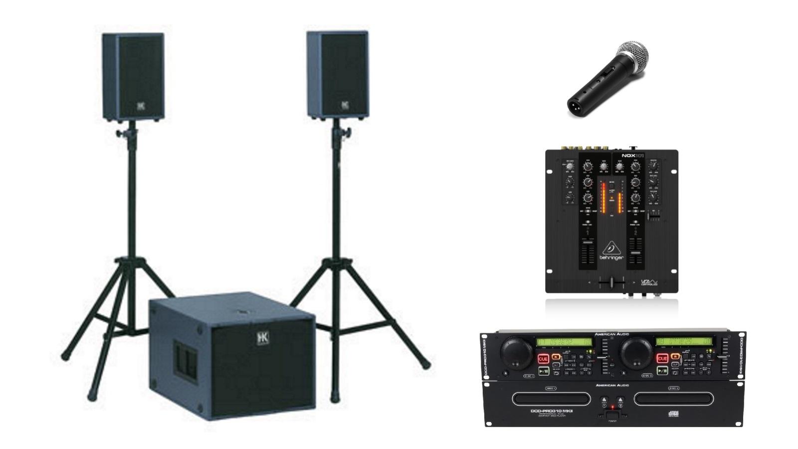 lautsprecheranlage mit 2 funkmikrofone